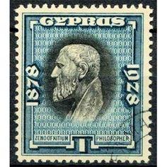Cyprus, Zeno, Philosopher, 50 Years of British Rule, 1938 used VF