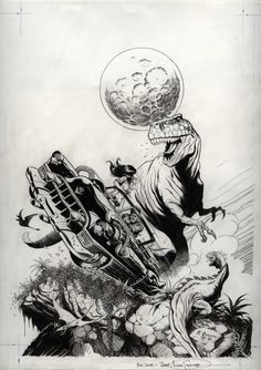 Schultz, Mark - Cadillacs & Dinosaurs, issue 1, cover (Nov 1990) Comic Art