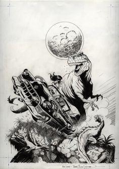 Schultz, Mark - Cadillacs & Dinosaurs, issue 1, cover (Nov 1990) Comic Art