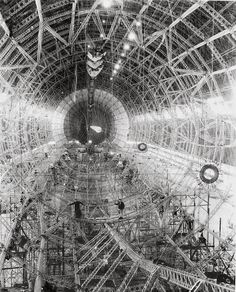 """Detailed photographs were taken in 1930 during the construction of USS """"Akron"""", and equally impressive USS """"Macon"""" in 1933:"""