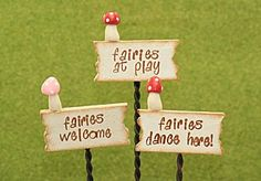 fairy garden signs | fairy signs size sign 4 cm x 1 5 cm