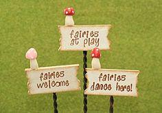 fairy garden signs   fairy signs size sign 4 cm x 1 5 cm