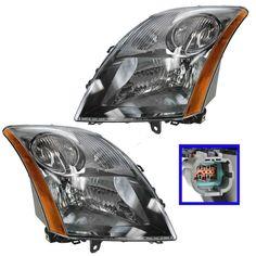 07-08 Toyota Yaris Driver /& Passenger Coupe//Hatchback Headlights Lamps Pair Set