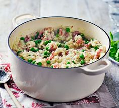 A simple and hearty weeknight risotto the whole family will love - the stock is added in one go and stirring kept to a minimum so you can multi-task