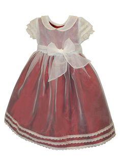 'Swing' Organza Overlay and Sash over Silk Timeless Girls Dress