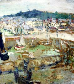 """bofransson: """" The Small Harbor, Honfleur Edouard Vuillard - circa 1902 """" Edouard Vuillard, Dramas, Honfleur, Art Populaire, Pierre Bonnard, Impressionist Artists, Post Impressionism, Landscape Paintings, Landscapes"""