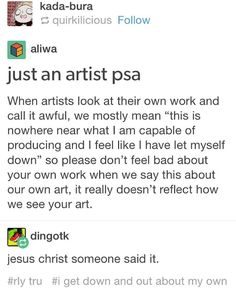 """""""This is me , this is what I mean when I say one of the pieces I produce looks terrible #deletelater"""" ~ I am not entirely sure who posted this on Instagram and I apologize for not giving due credit"""