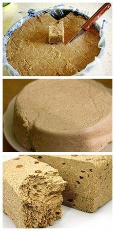 This halva - a recipe that will be . - Projekty do wypróbowania - Tortellini Russian Recipes, Cake Recipes, Dessert Recipes, Homemade Fudge, Different Recipes, Holiday Recipes, Food To Make, Gastronomia, Kitchen