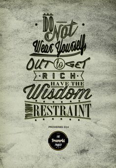 The Proverbs Typography Project