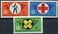 Francobolli . Lotta contro la malaria - Malaria on Stamps Germania DDR 1963