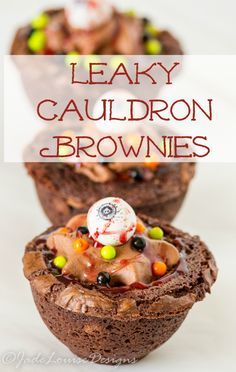 Leaky Cauldron Brownies, A Delicious Halloween Dessert that is easy to make and rich in flavor. Great for Halloween parties or just for fun! #SweetworksFall #sponsored
