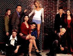 Buffy the Vampire Slayer Season two: Willow, Oz, Giles, Cordelia, Xander, Buffy, Angel, Drusilla, and Spike.
