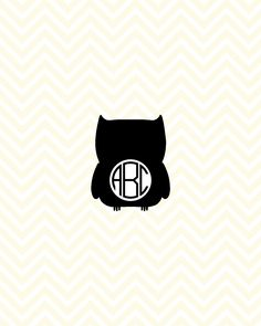 Halloween Owl Monogram SVG, DXF for Cricut Design Space, Silhouette, Die Cut Machines, Instant Download of svg, dxf & jpg by LunaSavita on Etsy