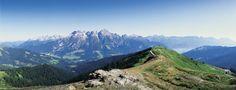 Alpenpanorama im Salzburger Land.