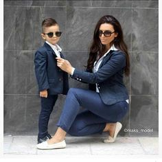 Cute Mother Son Outfit Ideas 6