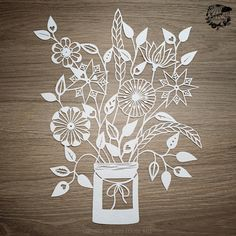 Jar of flowers - Louise Bell Art