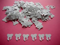 200 White Tooth Hand Punched Paper Confetti by RibbonsAndBowties, $2.50