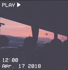 M O O N V E I N S 1 0 1 #vhs #aesthetic #bus #sunset #pink #blue #black #mountain If you want a vhs edit please message me the following: -A picture (which you want to be edited) -A time and date -A certain quote/name (optional)