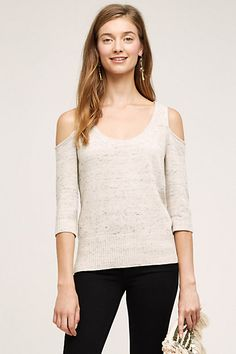 Spacedye Open-Shoulder Pullover #anthropologie