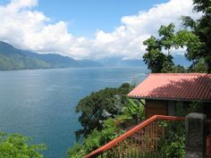 San Juan La Laguna, Guatemala.  This is Lake Atitlan in Guatemala and is actually taken from the balcony of the room I stayed in (I did not take this picture.  It came from http://santarosa.olx.com.gt/cabanas-a-orillas-del-lago-de-atitlan-iid-28297907).