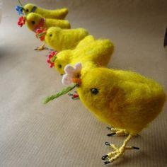 chicks needle felt by MissBumbles