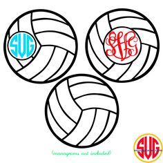 Volley Ball Frame for Monograms SVG DXF EPS | SVGmonograms