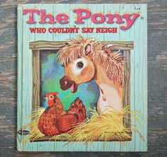 1964 The PONY Who Couldn't Say NEIGH Vintage by WUNDERSTUFF, $6.99