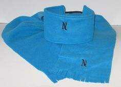 Monogrammed Gift Set Or Individual, Personalized Scarf, Ear Warmer, Turquoise, Blue, Solid Color, Unisex Gift,  Fleece Scarf Gifts For Boys, Girl Gifts, Gifts For Women, Monogram Gifts, Personalized Gifts, Monogrammed Scarf, Fleece Scarf, Cozy Scarf, Unisex Gifts