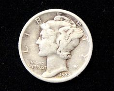 1938 Good or Better Mercury Dime! 90% Silver!  . Starting at $1
