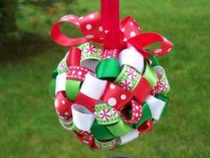 christmas ribbon ornament