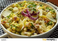 Květákový mozeček s bramborami z jedné pánve recept - TopRecepty.cz Potato Salad, Food Porn, Food And Drink, Potatoes, Treats, Cooking, Ethnic Recipes, Diet, Food