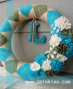 Argyle spring wreath