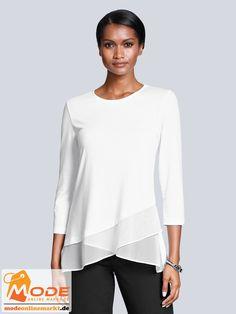 Shirt aus Jersey mit R halsausschnitt 3/4 langen Ärmeln Am Saum mit schön fallendem Chiffon besetzt Femininer ... #BAUR #AlbaModa #Rabatt #20 #Marke #Alba #Moda #Farbe #weiß #Material #Elasthan #Polyester #Viskose #Onlineshop #BAUR #Damen #Bekleidung #Damenmode #Sale #Shirts #Sweatshirts #TShirts | sportliche Outfits, Sport Outfit | #mode #modeonlinemarkt #mode_online #girlsfashion #womensfashion Diy Wedding Hair, Wedding Guest Hairstyles, Medium Thin Hair, Costume Noir, Hairstyles With Glasses, Alba Moda, Types Of Braids, Lisa Rinna, Long Braids