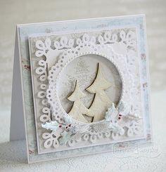 świąteczna kartka z choinką Christmas 2016, Christmas Cards, Cardmaking, Scrapbooking, Paper Crafts, Homemade, Ornaments, Frame, Lps