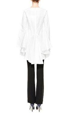 Rosie Assoulin - Drape-Back Cotton-Poplin Top