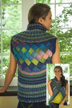 NobleKnits.com - Plymouth Gina Entrelac Shrug Knitting Pattern 2516, $5.95 (http://www.nobleknits.com/plymouth-gina-entrelac-shrug-knitting-pattern-2516/)