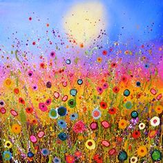 by Yvonne Coomber - www.latchfarmstudios.co.uk colour inspiration rainbows for Latch Farm Studios