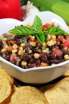 Black Bean, Corn, and Salsa Dip