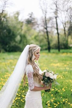 {Voluminous, Soft Flowing Cathedral Length Bridal Veil}