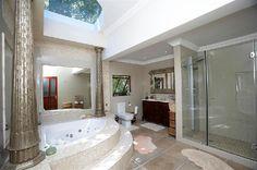 Bathroom where Dutch theme meets Roman style