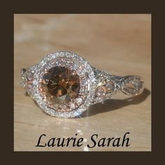 Chocolate Diamond Ring with Rose Gold & White Gold...Love it