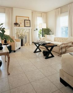 Ordinaire Living Rooms Flooring Ideas And Room Scenes Featuring TUMBLED MARBLE By  Nafco Vinyl Flooring