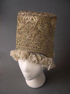 """Kokoshnik"" - headgear of a young married woman. Early 19th century. Russians. Pskov Province"