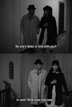 "Jean-Luc Godard, Alphaville, 1965' French Films, ""Love"""