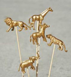 gold animal stirrers