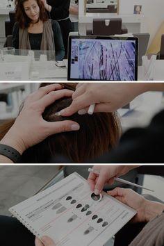 Nous offrons à nos clients un diagnostic du cuir chevelu à l'aide d'indicateurs qui nous permettent d'effectuer une mesure précise du cuir chevelu afin de connaître les besoins, et nous adaptons les produits spécifiques des dernières innovations scientifiques et garantissant une tolérance et efficacité optimales. Afin, Scientists, Take Care Of Yourself, Products, Hairstyle, Hair