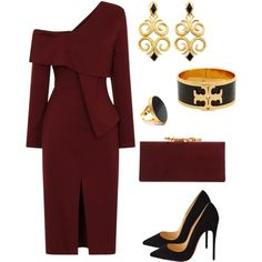 Evening date by taniaisabel-1 on Polyvore featuring moda, Christian Louboutin, Jimmy Choo, Tory Burch and Yossi Harari