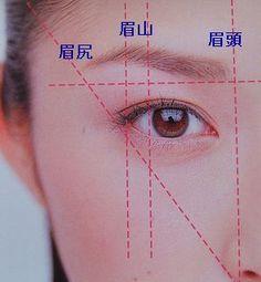 基本の眉の大きさと形