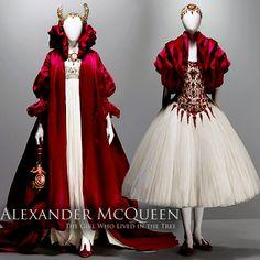 Queen and Princess costumes Alexander McQueen