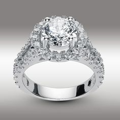 3 22 Ct Brilliant Cut Split Shank Lab Engagement Ring in Solid White Gold Cheap Engagement Rings, Engagement Ring Cuts, Celebrity Rings, Cushion Cut Engagement, Bridal Bands, Princess Cut Diamonds, Diamond Wedding Rings, Eternity Ring, White Gold Rings